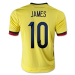 Colombia 2015 JAMES Youth Home Soccer Jersey