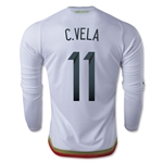 Mexico 2015 C. VELA LS Away Soccer Jersey