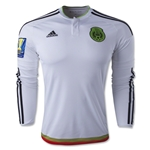 Mexico 2015 LS Away Soccer Jersey w/ Gold Cup Patch