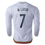 Mexico 2015 M. LAYUN LS Away Soccer Jersey