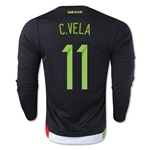 Mexico 2015 C. VELA LS Home Soccer Jersey