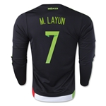 Mexico 2015 M. LAYUN LS Home Soccer Jersey
