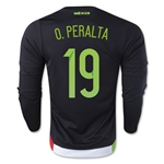 Mexico 2015 O. PERALTA LS Home Soccer Jersey