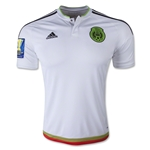 Mexcio 2015 Away Soccer Jersey w/ Gold Cup Patch
