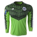 Mexico 2015 LS Goalkeeper Jersey w/ Gold Cup Patch