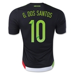 Mexico 2015 G. DOS SANTOS Authentic Home Soccer Jersey