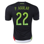 Mexico 2015 P. AGUILAR Authentic Home Soccer Jersey
