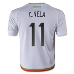 Mexico 2015 C. VELA Youth Away Soccer Jersey