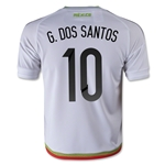 Mexico 2015 G. DOS SANTOS Youth Away Soccer Jersey