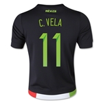 Mexico 2015 C. VELA Youth Home Soccer Jersey