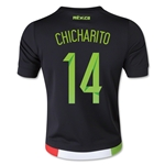 Mexico 2015 CHICHARITO Youth Home Soccer Jersey