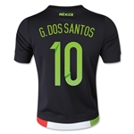 Mexico 2015 G. DOS SANTOS Youth Home Soccer Jersey