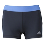 adidas Women's TechFit 3 Boy Shorts (Blue)