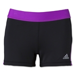 adidas Women's TechFit 3 Boy Shorts (Black/Pink)