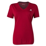 adidas Women's Ultimate V-Neck T-Shirt (Sc/Wh)