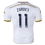 LA Galaxy 2015 ZARDES Authentic Home Soccer Jersey