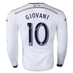 LA Galaxy 2015 GIOVANI LS Authentic Home Soccer Jersey