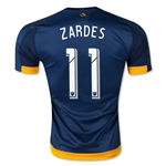 LA Galaxy 2015 ZARDES Authentic Away Soccer Jersey