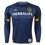 LA Galaxy 2015 LS Authentic Away Soccer Jersey