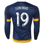 LA Galaxy 2015 JUNINHO LS Authentic Away Soccer Jersey