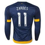 LA Galaxy 2015 ZARDES LS Authentic Away Soccer Jersey
