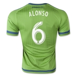 Seattle Sounders 2015 ALONSO Authentic Home Soccer Jersey