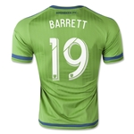 Seattle Sounders 2015 BARRETT Authentic Home Soccer Jersey