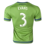 Seattle Sounders 2015 EVANS Authentic Home Soccer Jersey