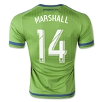 Seattle Sounders 2015 MARSHALL Authentic Home Soccer Jersey