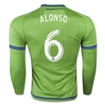 Seattle Sounders 2015 ALONSO LS Authentic Home Soccer Jersey