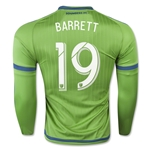 Seattle Sounders 2015 BARRETT LS Authentic Home Soccer Jersey