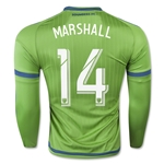 Seattle Sounders 2015 MARSHALL LS Authentic Home Soccer Jersey