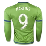 Seattle Sounders 2015 MARTINS LS Authentic Home Soccer Jersey