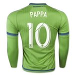 Seattle Sounders 2015 PAPPA LS Authentic Home Soccer Jersey