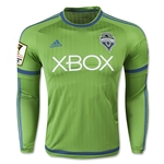 Seattle Sounders 2015 LS Authentic Home Soccer Jersey w/ CCL Patch