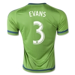 Seattle Sounders 2015 EVANS Home Soccer Jersey