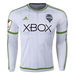 Seattle Sounders 2015 LS Authentic Away Soccer Jersey w/ CCL Patch
