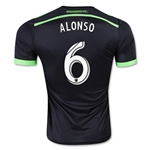 Seattle Sounders 2015 ALONSO Authentic Third Soccer Jersey