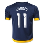 LA Galaxy 2015 ZARDES Youth Away Soccer Jersey