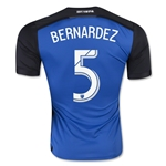 San Jose Earthquakes 2015 BERNARDEZ Authentic Home Soccer Jersey