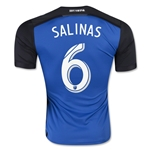 San Jose Earthquakes 2015 SALINAS Authentic Home Soccer Jersey