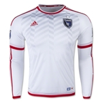 San Jose Earthquakes 2015 LS Authentic Away Soccer Jersey