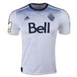 Vancouver Whitecaps 2015 Authentic Home Soccer Jersey w/ CCL Patch