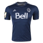 Vancouver Whitecaps 2015 Authentic Away Soccer Jersey w/ CCL Patch