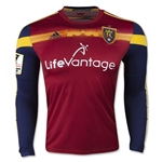 Real Salt Lake 2015 LS Authentic Home Soccer Jersey w/ CCL Patch