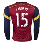 Real Salt Lake 2015 SABORIO LS Authentic Home Soccer Jersey