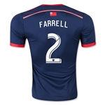 New England Revolution 2015 FARRELL Authentic Home Soccer Jersey