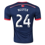 New England Revolution 2015 NGUYEN Authentic Home Soccer Jersey