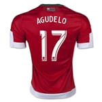 New England Revolution 2015 AGUDELO Authentic Away Soccer Jersey