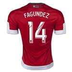 New England Revolution 2015 FAGUNDEZ Authentic Away Soccer Jersey